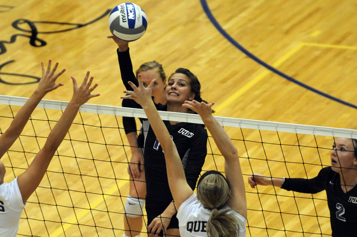 Falcon Volleyball sweeps Lander at home, improves to 12-6 on season