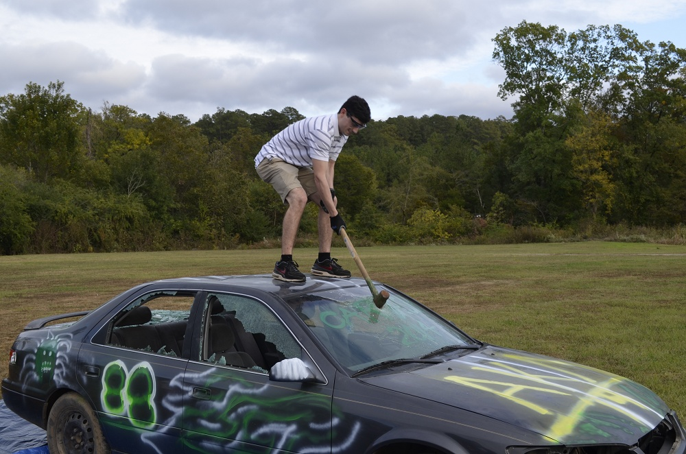 Bashing cars for charity
