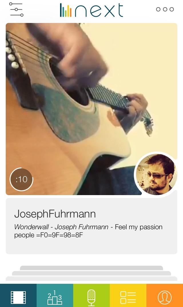 Next app screenshot