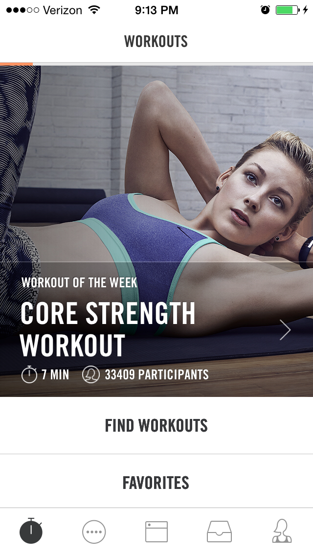 Nike+ app screenshot