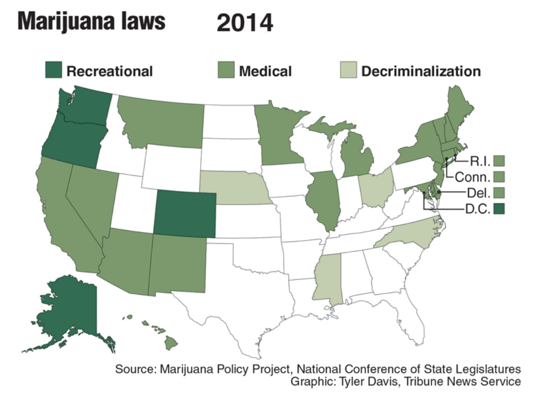 Marijuana legalization extends across country