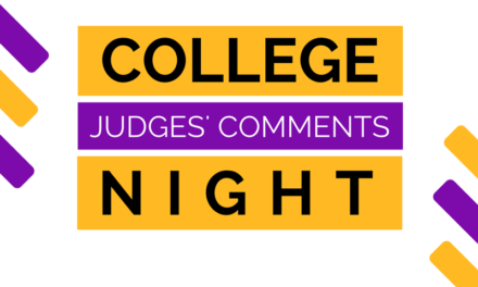Judge's Comments: College Night 2017