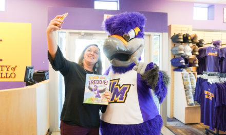 UM mascot makes novel debut
