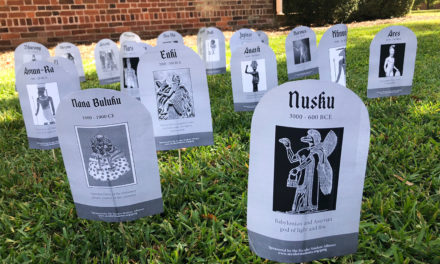 Secular Student Alliance unveils Graveyard of the Gods