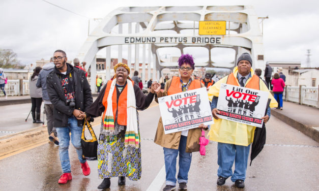 "Selma's ""Bloody Sunday"" commemorated for 54th year  with bridge crossing reenactment"