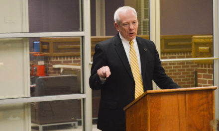 Scott Dillard speaks at SGA Town Hall