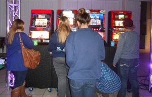 Students especially enjoyed the slot machines brought into Anna Irvin. / Photo by Charitina Goebel