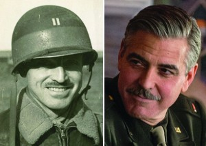 The Monuments Men photo of comparison between real life monuments man George Stout and George Clooney, who played a character based off of Stout. Photo from the Walter Hancock Collection