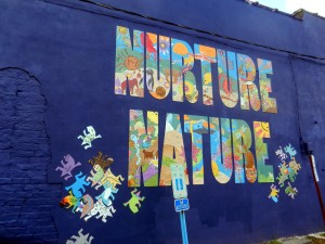 Mural created by art students in local camp held in late June.