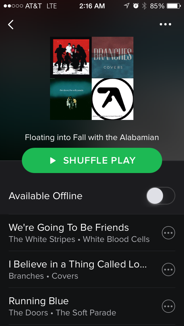 Spotify Playlist: Floating into Fall with the Alabamian