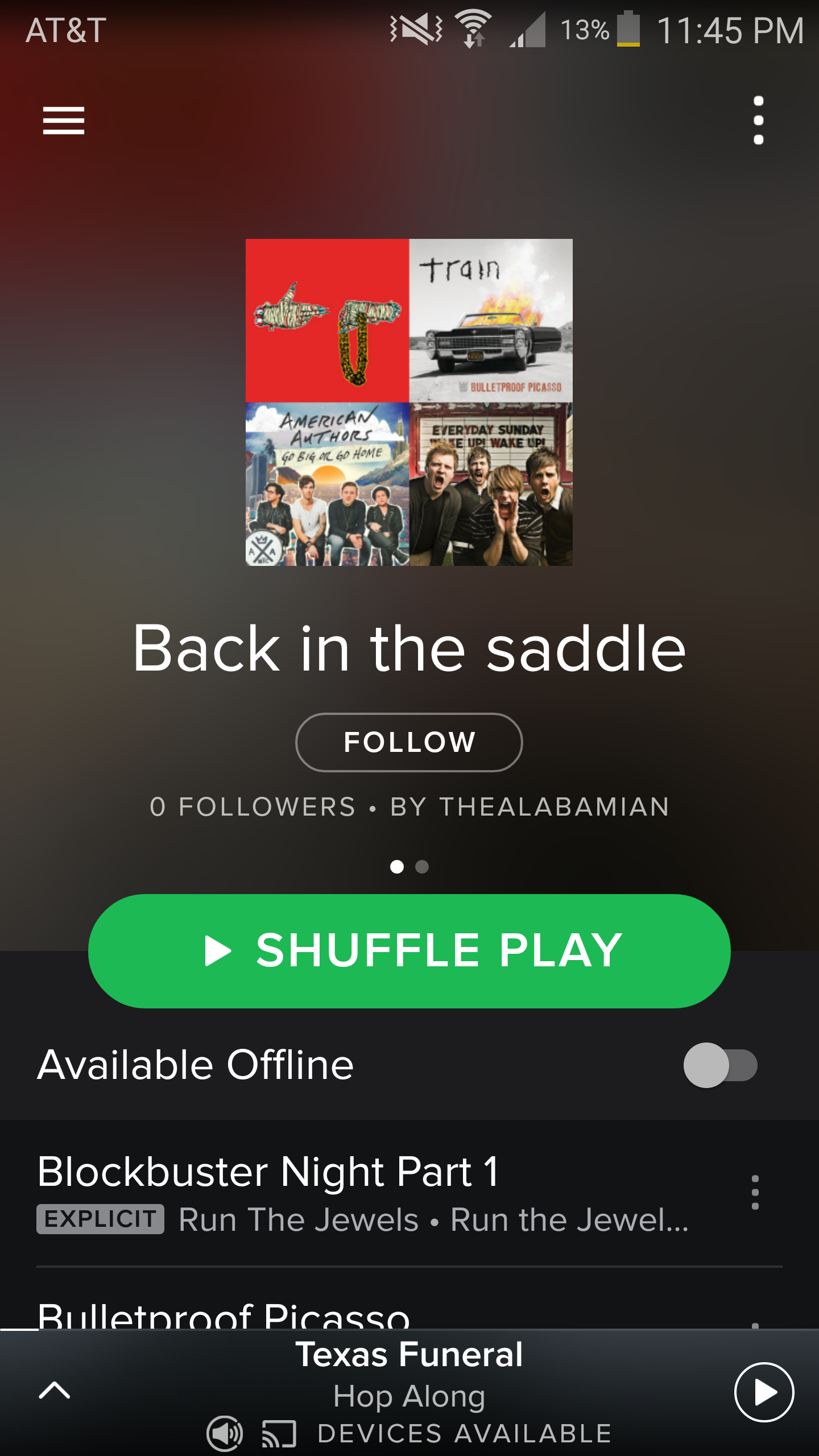 Spotify Playlist: Back in the Saddle