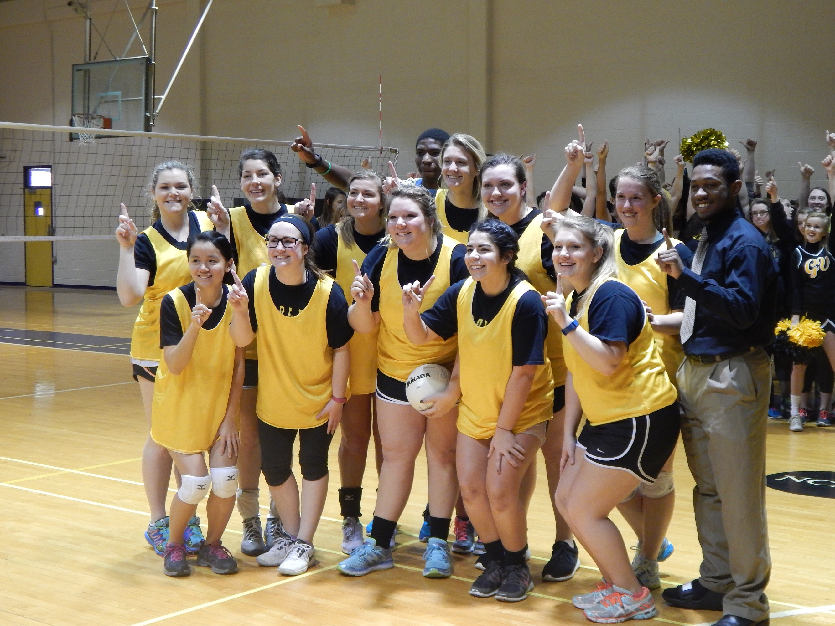 Golds net 25 points against Purples in volleyball game