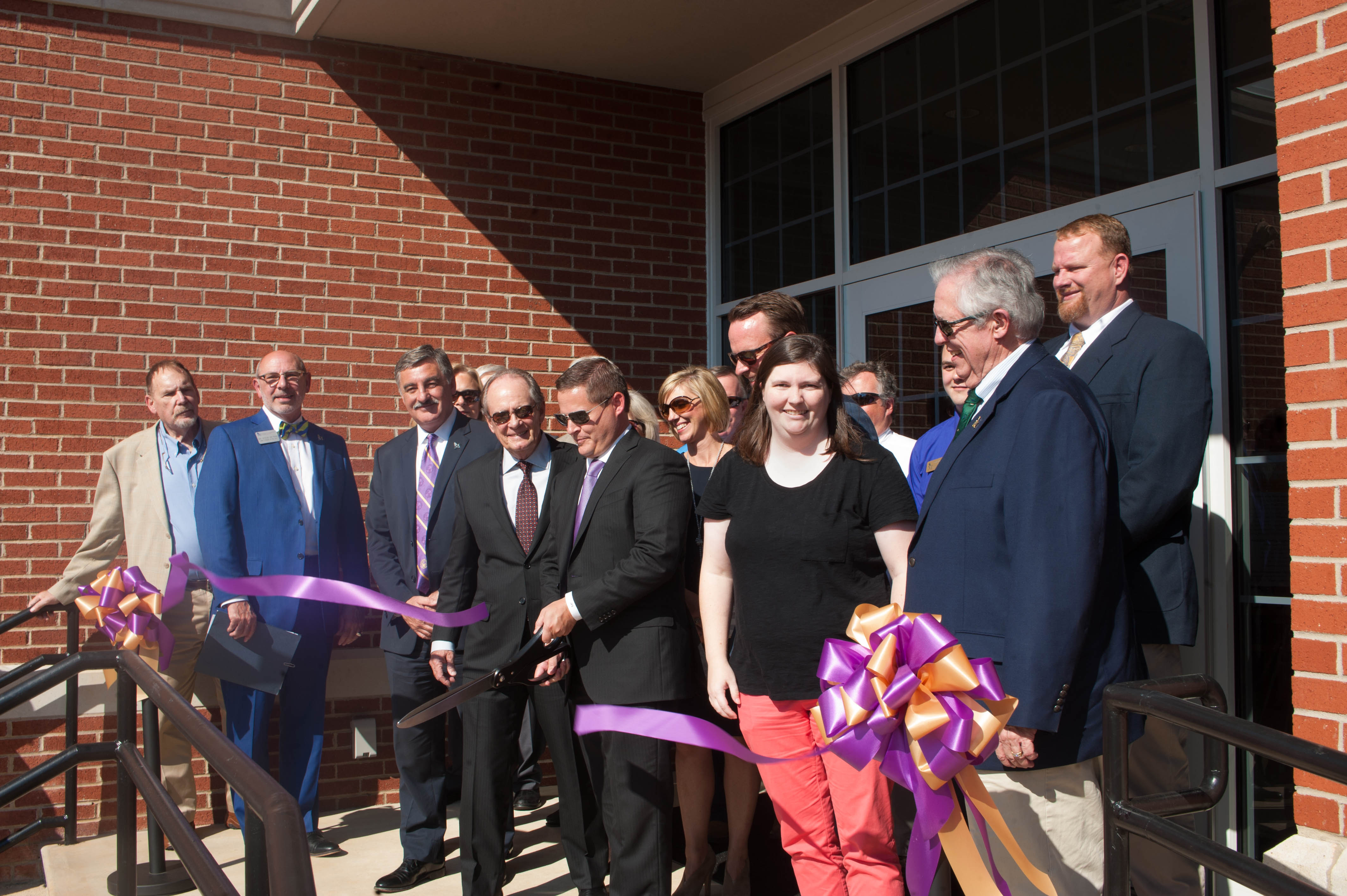 UM officials cut ribbon for Strong Hall opening