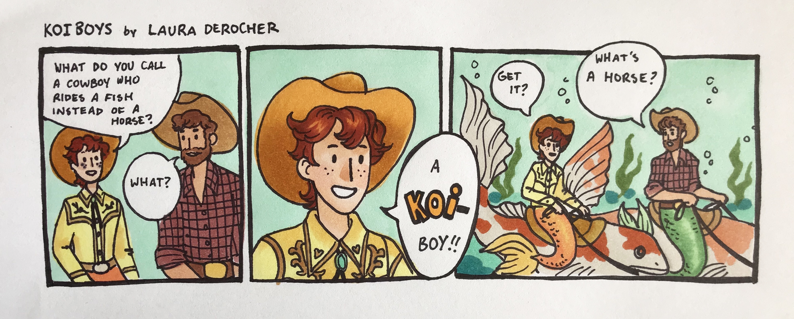 Koi-boys comic _ Laura DeRocher