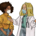 Drawing of Dr. and patient talking